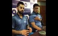 Virat Kohli, Coach Anil Kumble interact with media on West Indies Tour