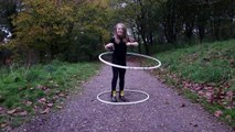 Lily Hooping Hulahooper, 10 years Old Hoops with 2 hoops!!