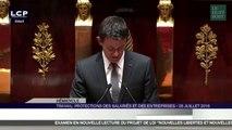 Manuel Valls annonce le recours au 49.3 concernant la loi Travail