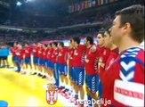 Srbija - Hrvatska 26:22 Himna Srbije i Pocetak Utakmice 27.01.2012.
