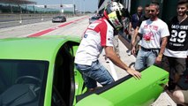 Lamborghini on track at the World Ducati Week 2016 with MotoGP riders