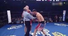 Le boxeur Hugo Centeno Jr met une grosse droite à l'arbitre !!!!!