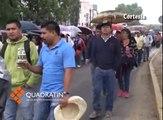Realiza Sección 22 marchas simultáneas en Oaxaca