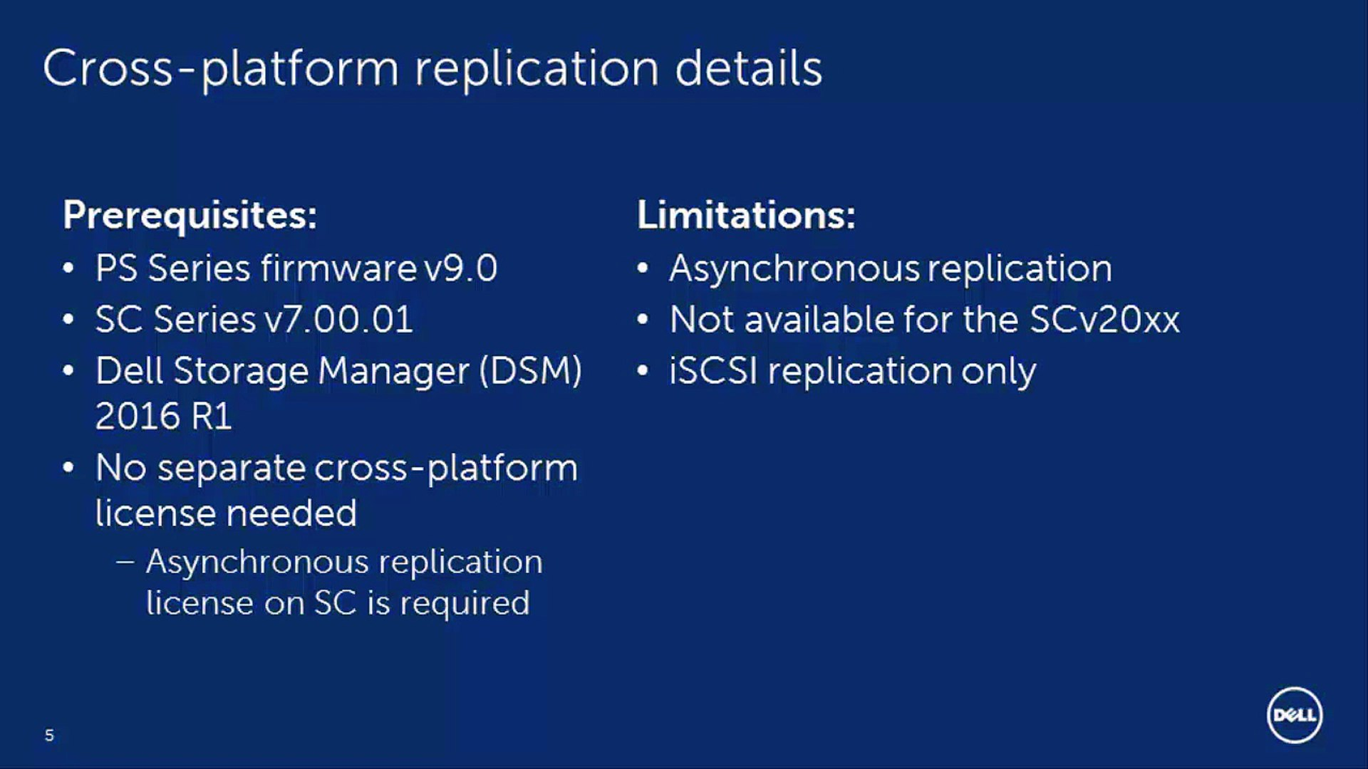 Cross-Platform Replication - Part 1: Introduction, Dell Storage Manager,  and Configuration