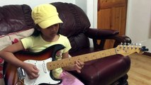 10 yr old Krizten Centino guitar cover of Johnny B. Goode- Chuck Berry