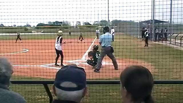 Taylor Ducks Green 12U Girls Softball vs Ducks White 4-25-13