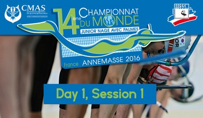Day 1, Session 1 - 14th World Junior Finswimming Championship