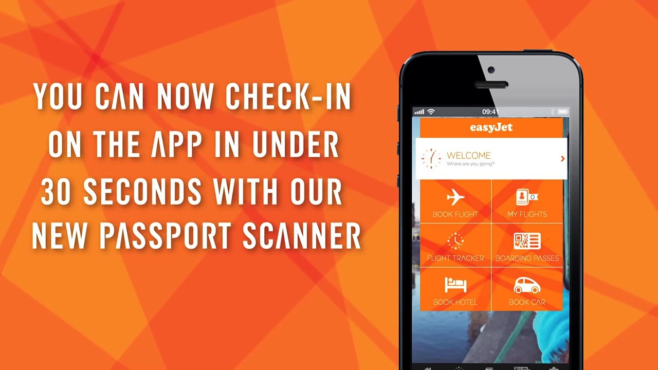 EasyJet Mobile App For Quick Scan of Passport and Checkin