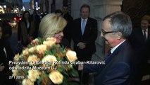 Wizyta prezydent Chorwacji w Collegium Maius UJ 27 stycznia 2016