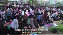 A Gaza, les Palestiniens célèbrent la fin du ramadan