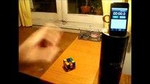 Mi modesto cubo de Rubik en 9:23