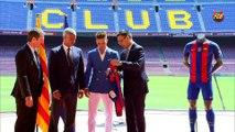 El FC Barcelona da la bienvenida a Denis Suárez