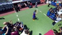 Denis Suárez on the field at Camp Nou