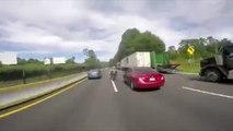Un homme provoque un gros accident en voulant faire la course avec des motards