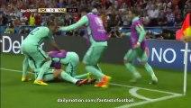 Portugal 2 - 0 Wales HD All Goals & Highlights 06.07.2016 HD