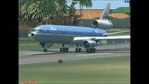 FSX Old KLM DC-10 Landing very low at Princess Juliana