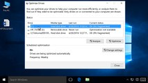 Defragmenting a Hard Disk Drive in Windows 10