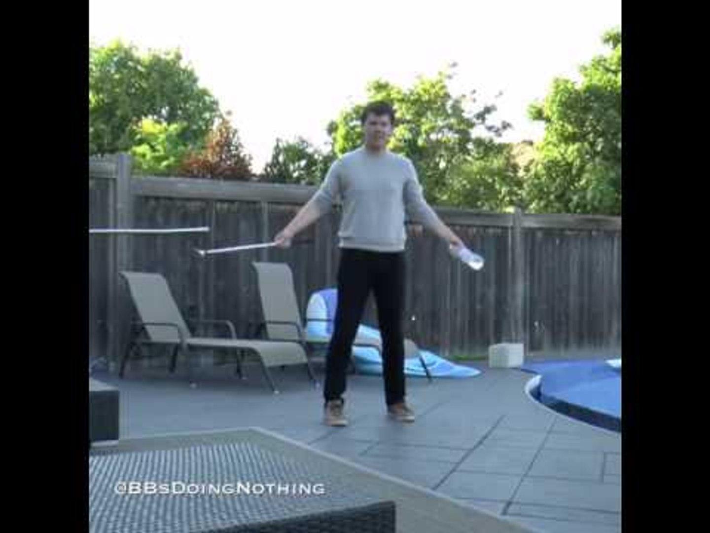 Guy Bottle Flips 16 Times Using Golf Club
