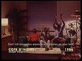 """Extrait de la publicité pour """"Super Timor"""",  marque d'insecticides ivoirienne produite en 1986."""