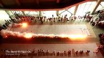 Cet Artiste chinois utilise des explosifs pour réaliser ses fresques splendides
