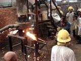 Fundicion de hierro en la eet nº 10 -Fray Luis Beltran