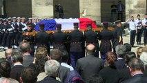 Hommage national à Michel Rocard aux Invalides