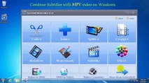 Combining Subtitle with .MPV Video, Combine Subtitle into .MPV file Windows 10