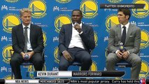 Kevin Durant gaze Klay Thompson