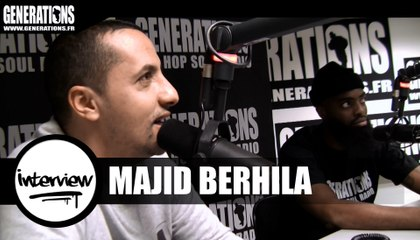 Majid Berhila - Interview (Live des studios de Generations)