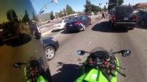 Un motard percute une voiture alors qu'il roulait à 130 km/h en ville