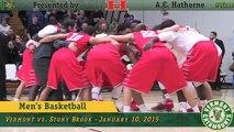 Men's Basketball: Vermont vs. Stony Brook (1/10/15)
