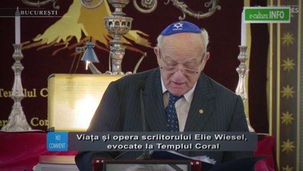 Elie Wiese, evocat la Templul Coral