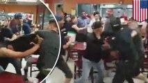 Une immense bataille générale éclate dans un restaurant mexicain