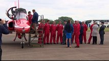 Prince William Kate Middleton and Prince George visit to the Royal International Air Tattoo