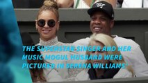 Jay-Z and Beyonce spotted at Wimbledon Ladies Final
