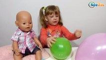 ✔ Беби Борн. Девочка Ника лопает шарики с сюрпризами. Видео для детей. Baby Born Doll ✔