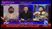 Apne Button Band Karo Mubashir Luqman To Qandeel Baloch In A Live Show | Itni bezti Dusman ki na Ho