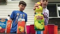 Chugging Challenge Orange Soda,orange Juice,lemon Juice,milk,Apple Juice