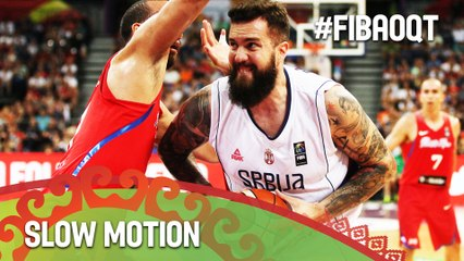 Serbia v Puerto Rico in slow motion!