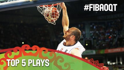 Top 5 Plays - Day 5 - 2016 FIBA Olympic Qualifying Tournament - Serbia