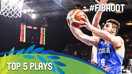 Top 5 Plays - Final Day - 2016 FIBA Olympic Qualifying Tournament - Italy