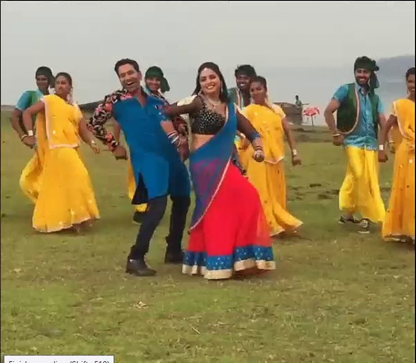 Very Hot Amrapali Dubey dancing in Shiny Dress - video