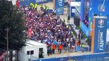 Euro 2016 : la fan zone de Lille pleine pour la finale, vue d'en haut