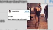 Kim Kardashian wird dafür kritisiert ein Selfie gepostet zu haben