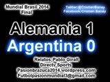 Alemania 1 Argentina 0 (Relato Pablo Giralt) Mundial Brasil 2014 Alemania Campeon