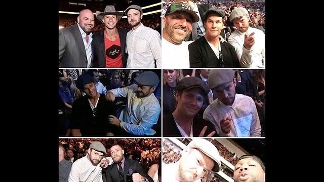 Conor McGregor chilling with Justin Timberlake at UFC 200 TJ Dillashaw training Joe Rogan Edits UFC 2016