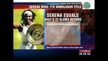 Wimbledon 2016 Final - Serena Williams Wins Seventh Wimbledon, Record-Equalling 22nd Major Title