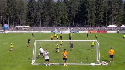 Pinzolo, allenamento Roma: che gol Ricci!