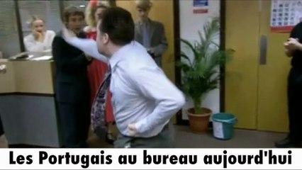 Les Portugais après la victoire de l'Euro