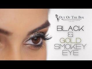 Black & Gold Smokey Eye Tutorial | Gold Dramatic Makeup